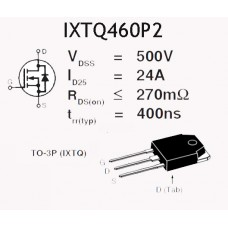 IXTQ460P2 ROHS MOSFET 25A 500V N CHANNEL 500W TO-3